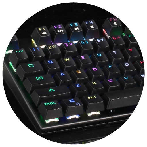 Besides the Pre-built RGB effects, assign RGB light to the keys you use for better visual-aid.